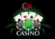 4 Aces and poker chips All Star Casino