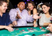 Group of people at Blackjack table