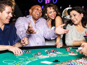 Group of people at Blackjack table