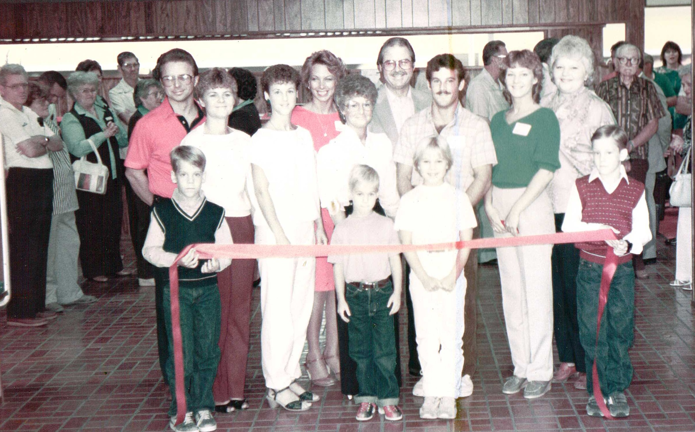All Star Lanes Ribbon Cutting Ceremony August 1985