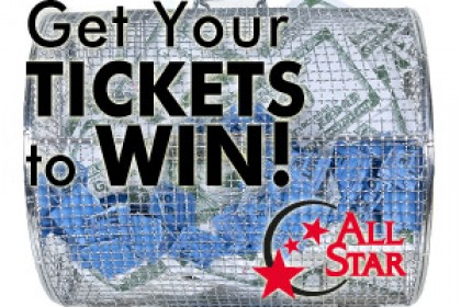 Ticket Tumbler for All Star Casino Give Aways