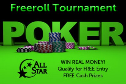 Freeroll Poker Tournament at All Star Casino