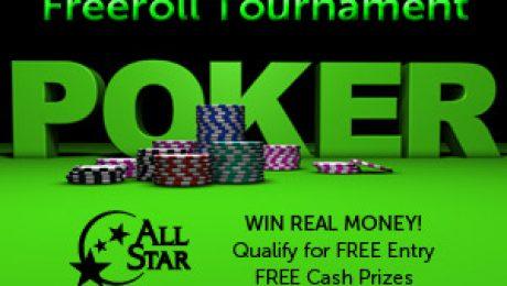 Freeroll Poker Tournament at All Star Casino