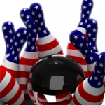 Stars and Stripes Bowling Pins and Ball
