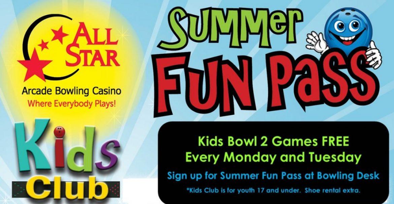 All Star Lanes Summer Fun Pass